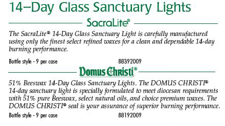 Cathedral Brand 14-Day Glass Sanctuary Lights
