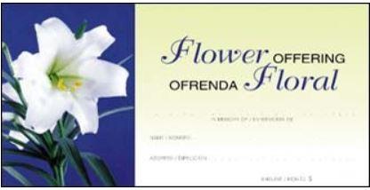 Easter Flower Offering Envelope Bilingual Item # 8448S Starting at  Size & Fit Guide