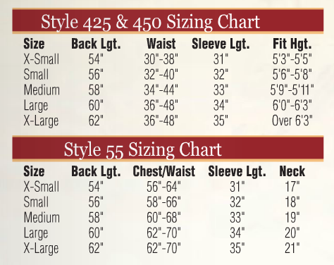 Abbey Brand Permanent Press Alb - Item # 55 Size & Fit Guide