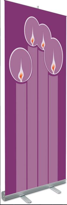NEW Slabbinck Roll Up Banner (Purple Advent) - Item # 7319 Size & Fit Guide