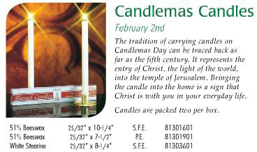 Cathedral Brand Candlemas Candles - Starting at Size & Fit Guide