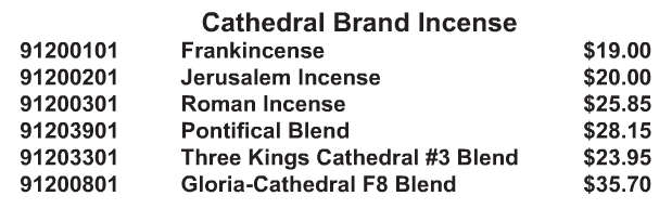 Cathedral Brand Incense - Starting at Size & Fit Guide
