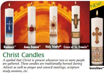 Cathedral Brand Holy Trinity Christ Candle Size & Fit Guide