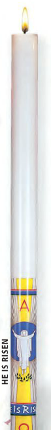 Cathedral Brand Paschal Candle - He is Risen - Starting at Size & Fit Guide