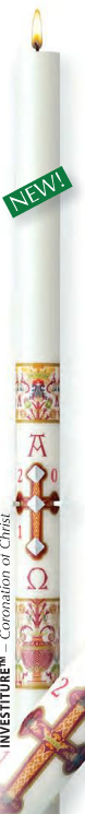 Cathedral Brand Paschal Candle - Investiture - Starting at Size & Fit Guide