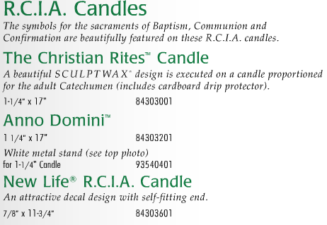 Cathedral Brand - R.C.I.A. Candles - Anno Domini Size & Fit Guide