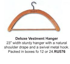 Deluxe Vestment Hanger - Item # RU576 - Starting at Size & Fit Guide