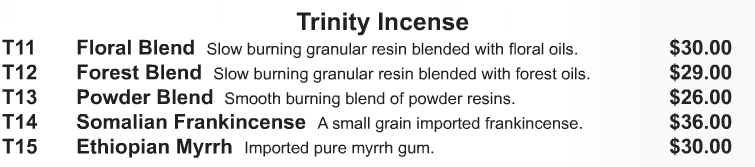 Trinity Incense - Starting at  Size & Fit Guide