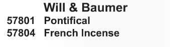 Will & Baumer Incense - Starting at Size & Fit Guide